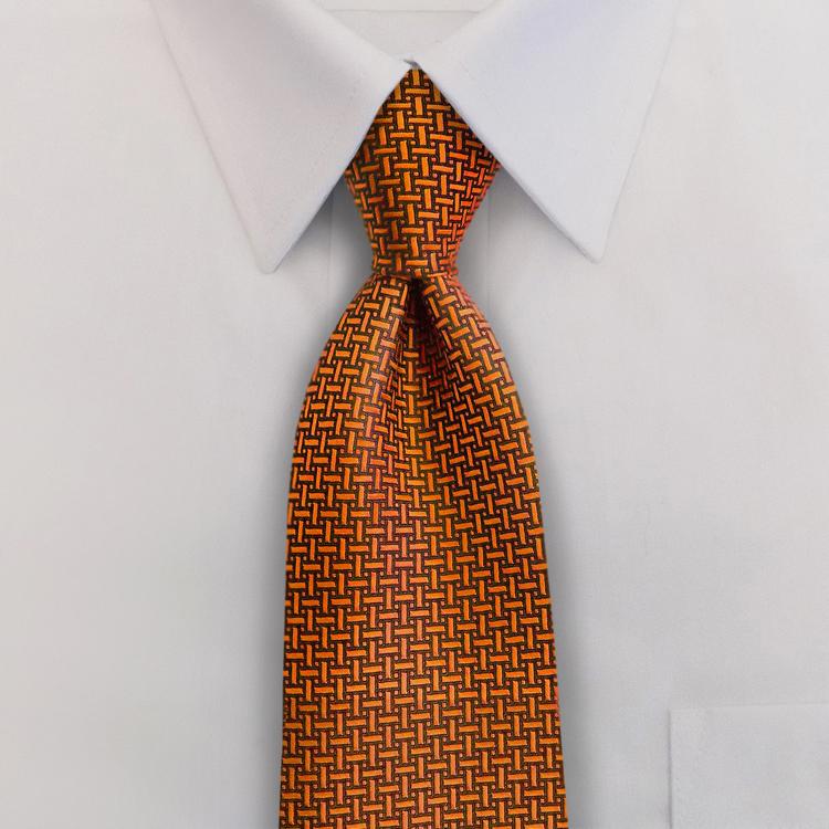 Gem Tones HA9 Orange Sunstone <br>Four-In-Hand Necktie-SB