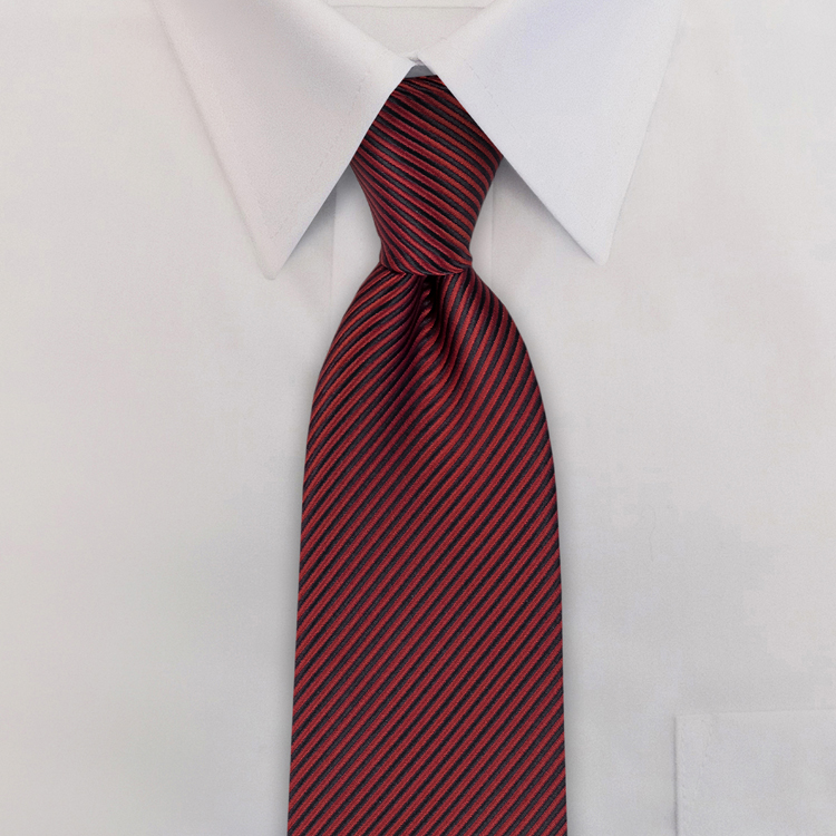 Russell EC2 Burgundy<br>Four-In-Hand Necktie-SB
