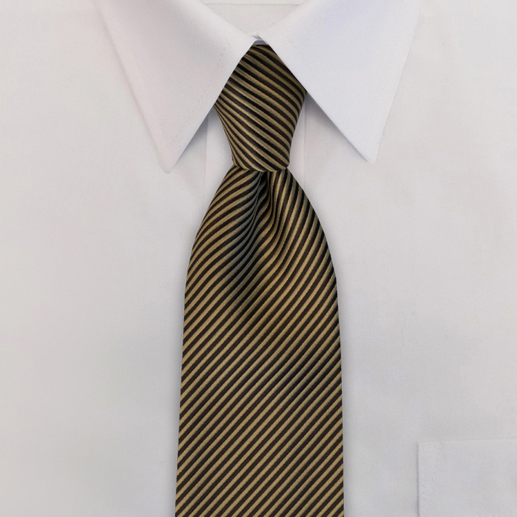 Russell EC3 Gold<br>Four-In-Hand Necktie-SB