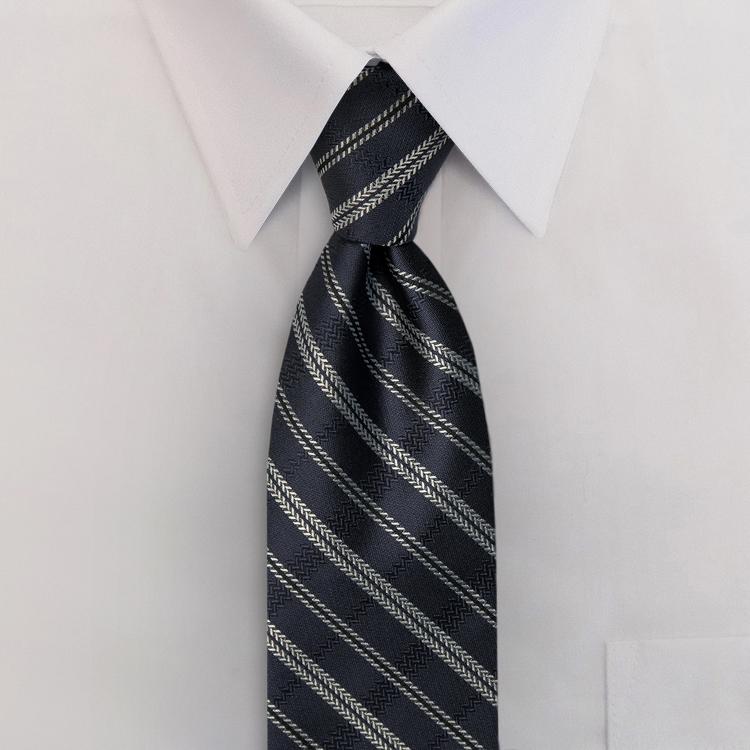Tracks FC1 Navy<br>Four-In-Hand Necktie-SB