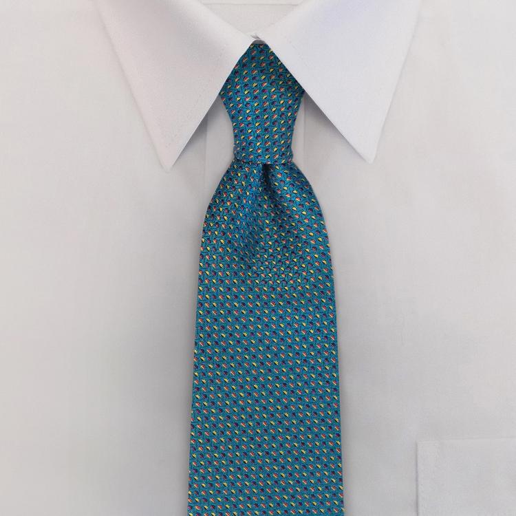 Cosmos LC1 Blue<br>Four-In-Hand Necktie-SB