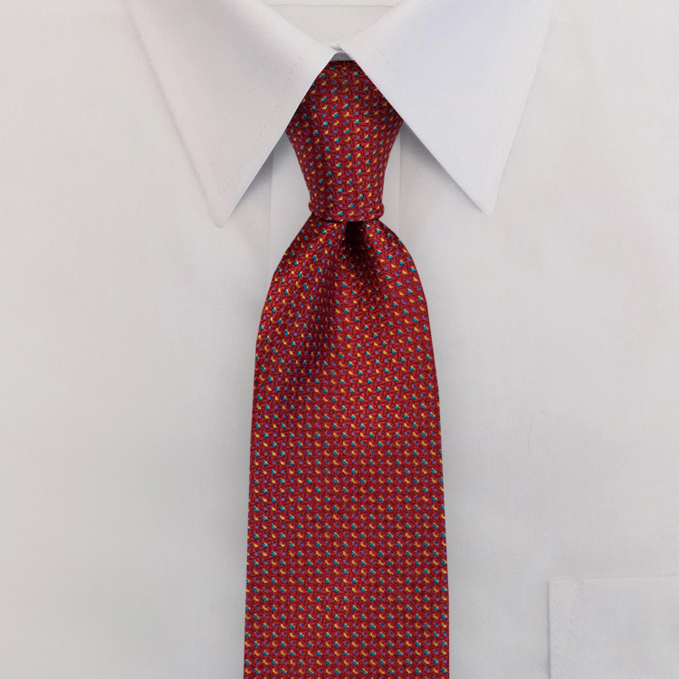 Cosmos LC2 Red<br>Four-In-Hand Necktie-SB