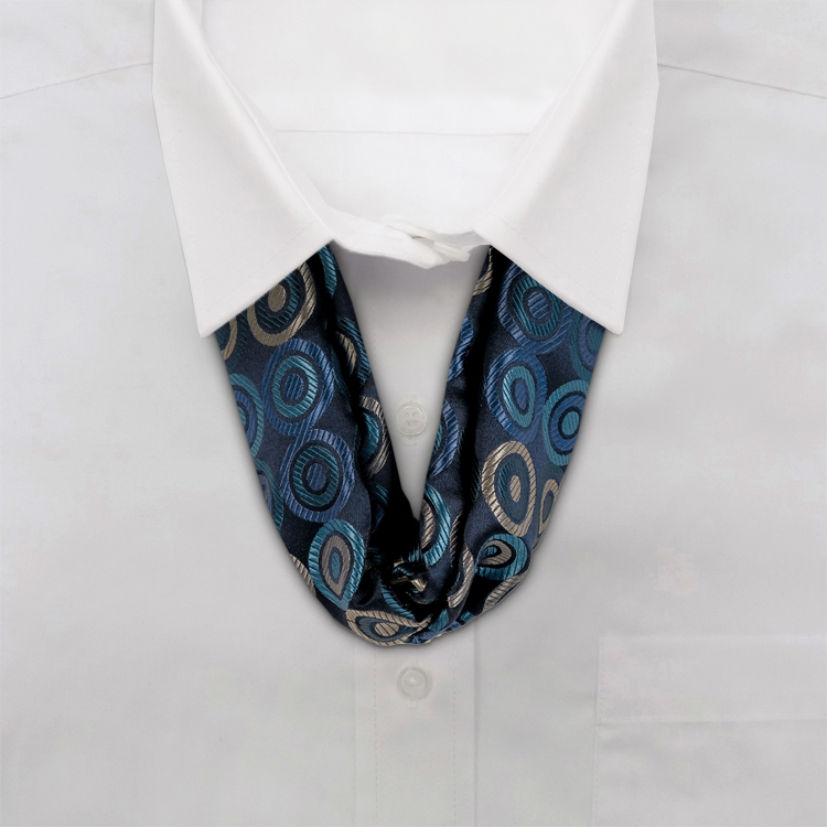 Circle Maximus #TC1 Navy/Teal<br>Women&#8216;s Ascot Loop-SB