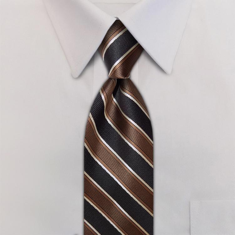 Tiramisu FD1 Brown/Black/Taupe<br>Four-In-Hand Necktie-SB