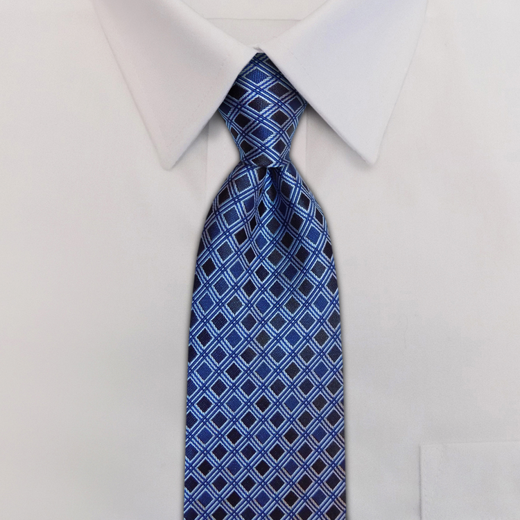 Roman Shades<br>GD1 Shades of Blue<br>Four-In-Hand Necktie-SB