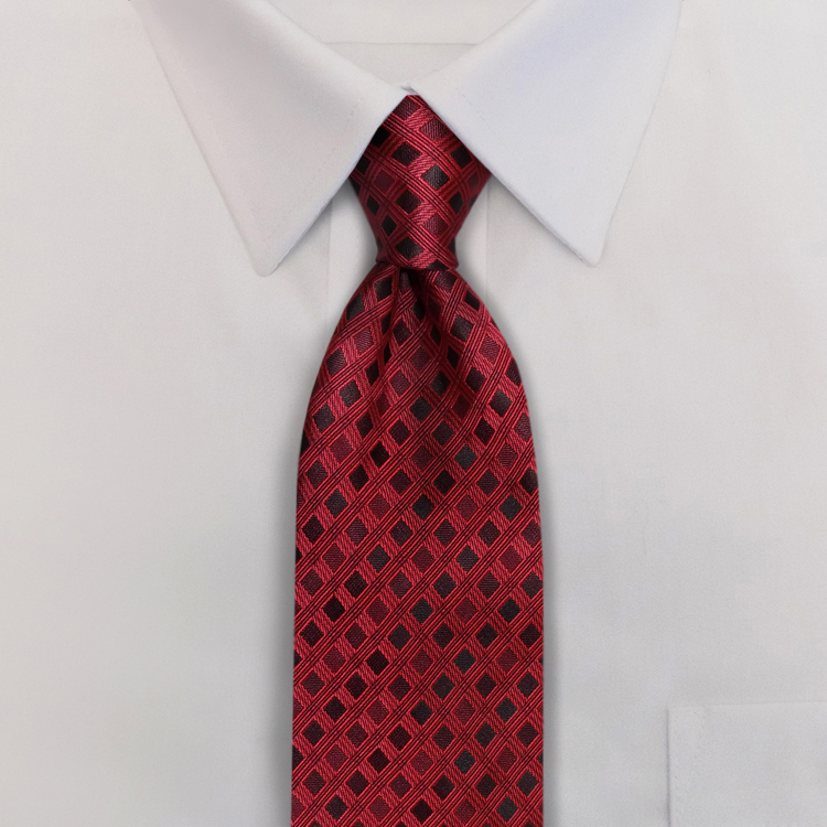 Roman Shades<br>GD2 Shades of Red<br>Four-In-Hand Necktie-SB