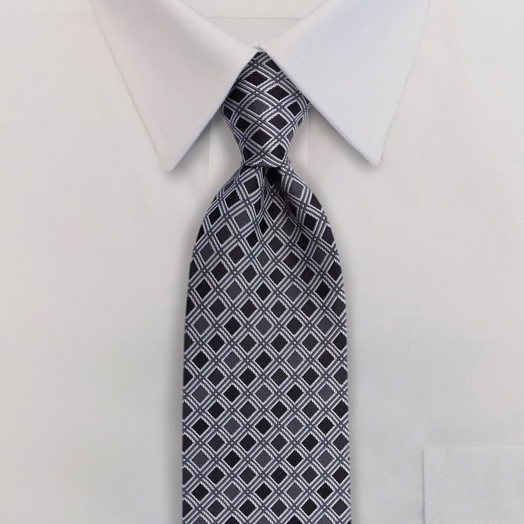 Roman Shades<br>GD3 Shades of Grey<br>Four-In-Hand Necktie-SB