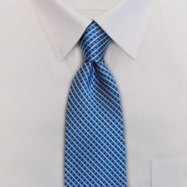 Interstate KD1 Blue/Grey/Navy<br>Four-In-Hand Necktie-SB