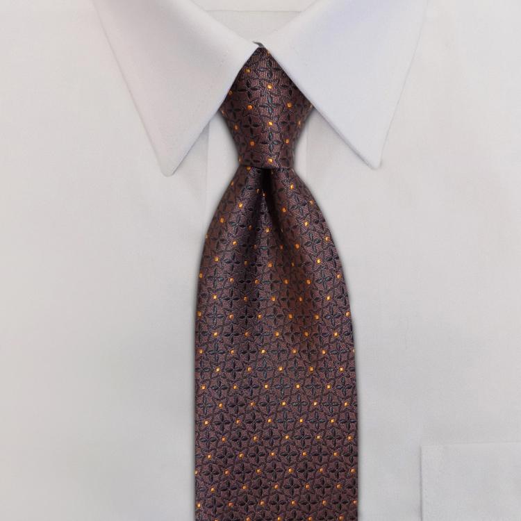 Crosshairs LD3 Brown/Orange<br>Four-In-Hand Necktie-SB