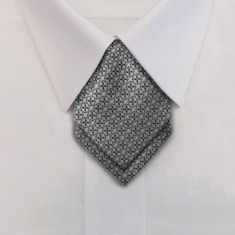 Crosshairs LD2 Grey/Silver<br>Women&#8216;s Banded Pointed Ascot-SB