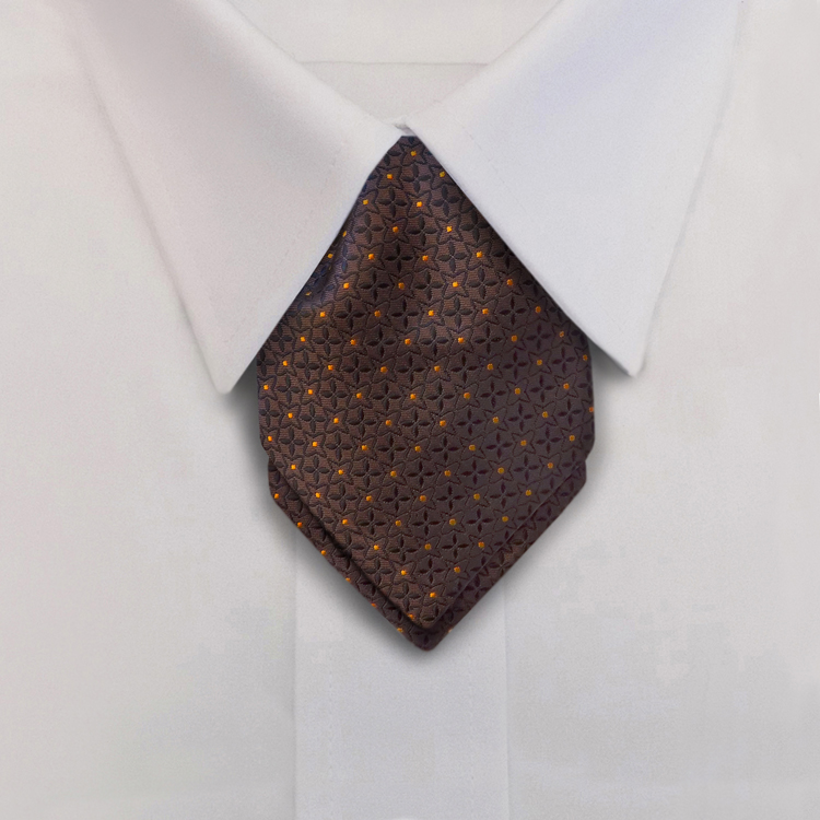 Crosshairs LD3 Brown/Orange<br>Women&#8216;s Banded Pointed Ascot-SB