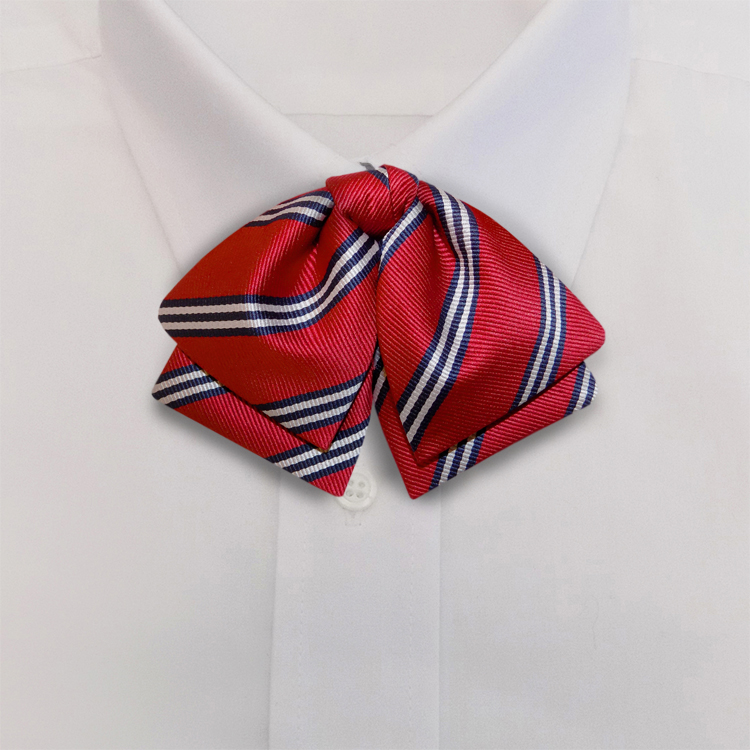 Red/Navy/White Stripe #393<br>Manager Bow<br>on Adjustable Band-SB