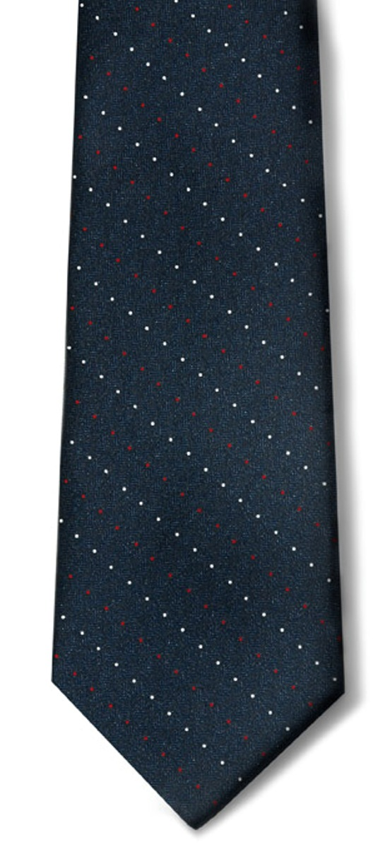 USPS Letter Carrier Pindot Necktie with Buttonholes-SB