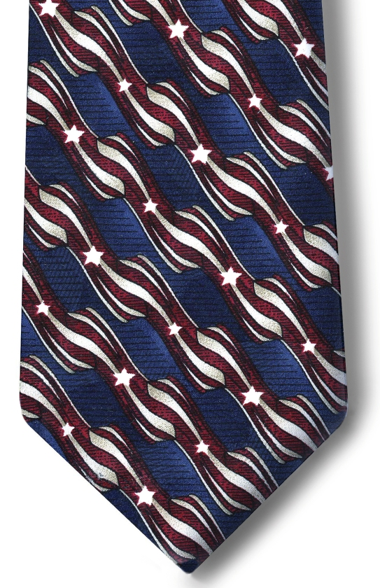 USPS Clerk Stars & Stripes Necktie-SB