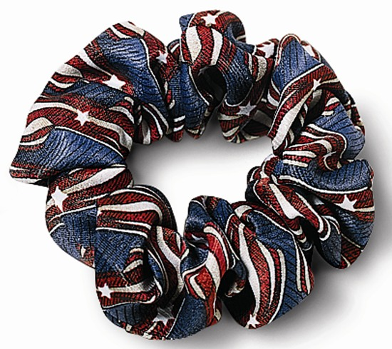 USPS Clerk Stars & Stripes Scrunchie-SB