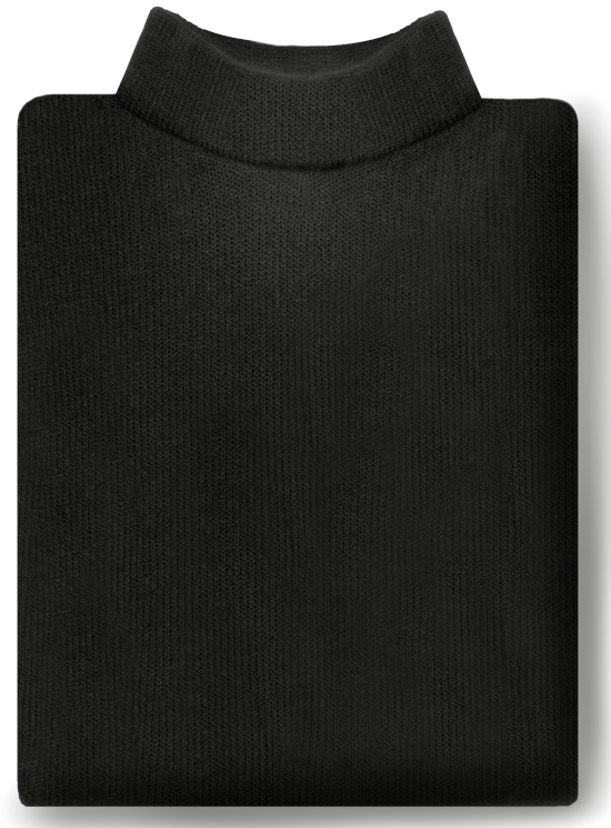 Acrylic Mock Turtleneck Dickey-SB