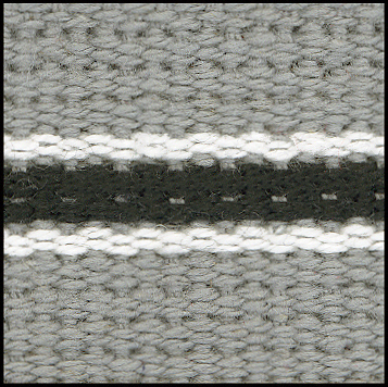 Grey/White/Black Stripe