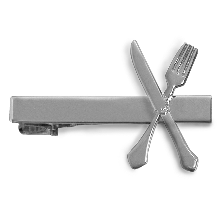 Knife & Fork Tie Bar-Samuel Broome Uniform Accessories