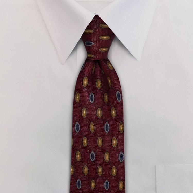 Audiophile Burgundy #CB2 Four-In-Hand Necktie-SB