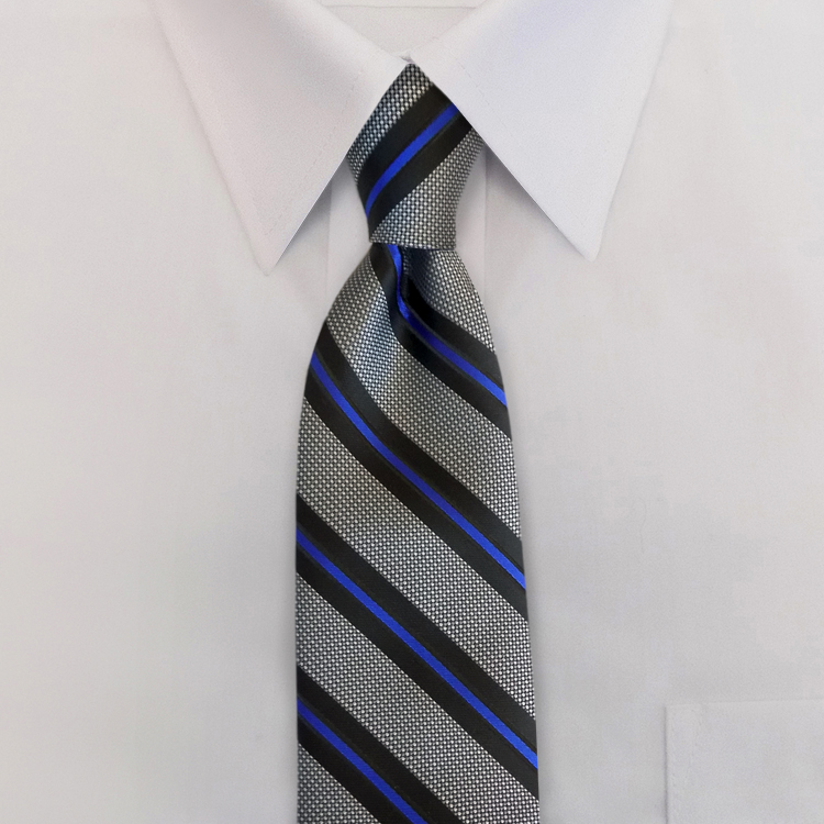 The Thin Blue Line #ND1<br>Four-In-Hand Necktie-SB
