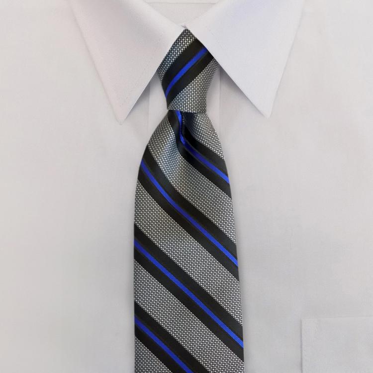 The Thin Blue Line #ND1<br>Four-In-Hand Necktie-Samuel Broome Uniform Accessories