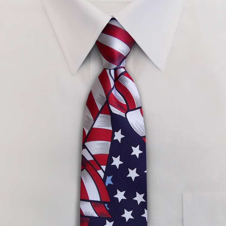 USA Proud Red White and Blue #PD1 Four-In-Hand Necktie-SB