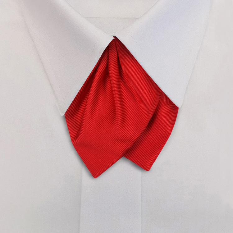 Red Solid Twill Tulip Bow on adjustable band-SB