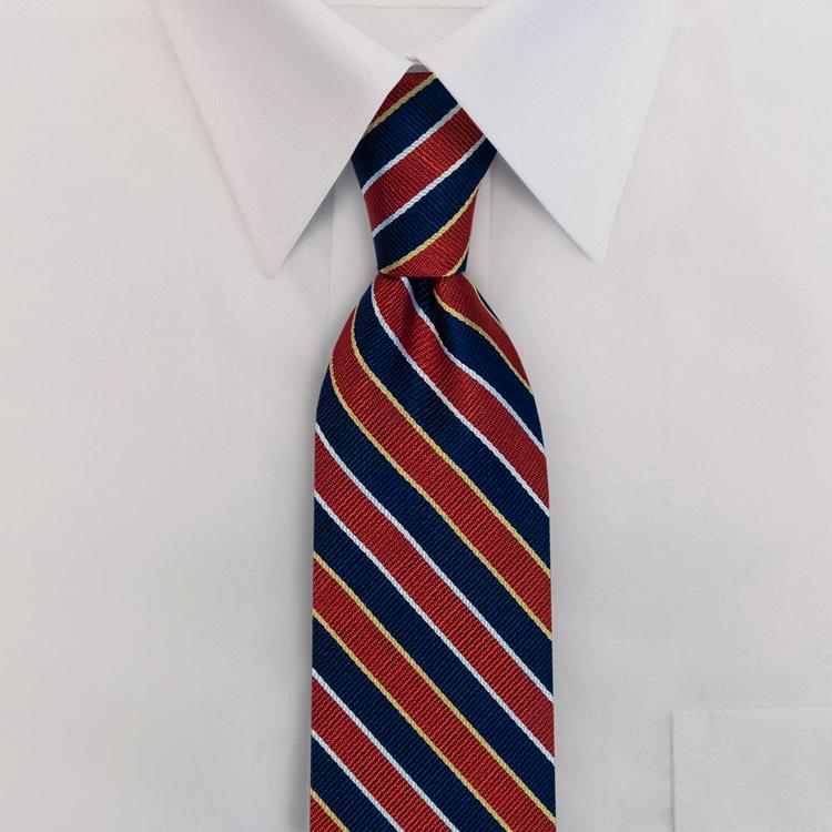 Navy/Red Stripe #621<br>Four-In-Hand Necktie-SB