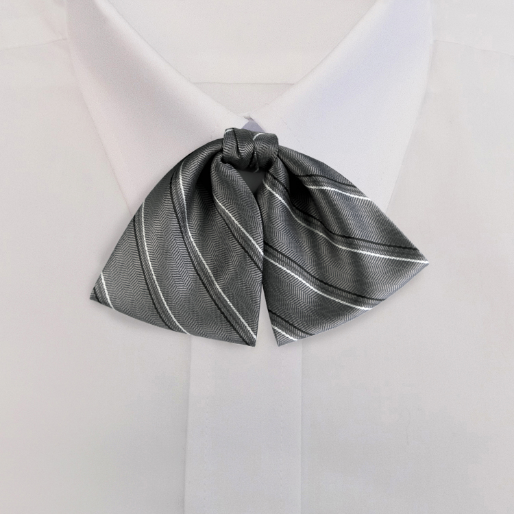 Grey/Black Stripe #616<br>Tab Bow on Adjustable Band-SB