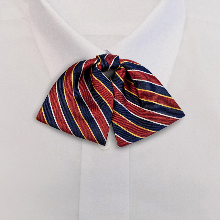 Navy/Red Stripe #621<br>Tab Bow on Adjustable Band-SB