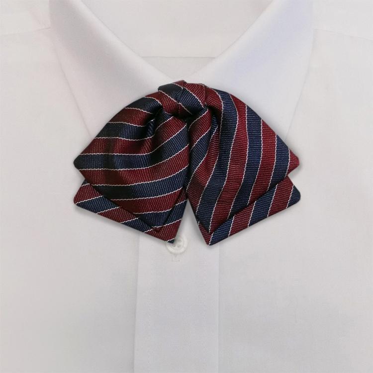 Navy/Burgundy/White Stripe #392<br>Manager Bow<br>on Adjustable Band-SB