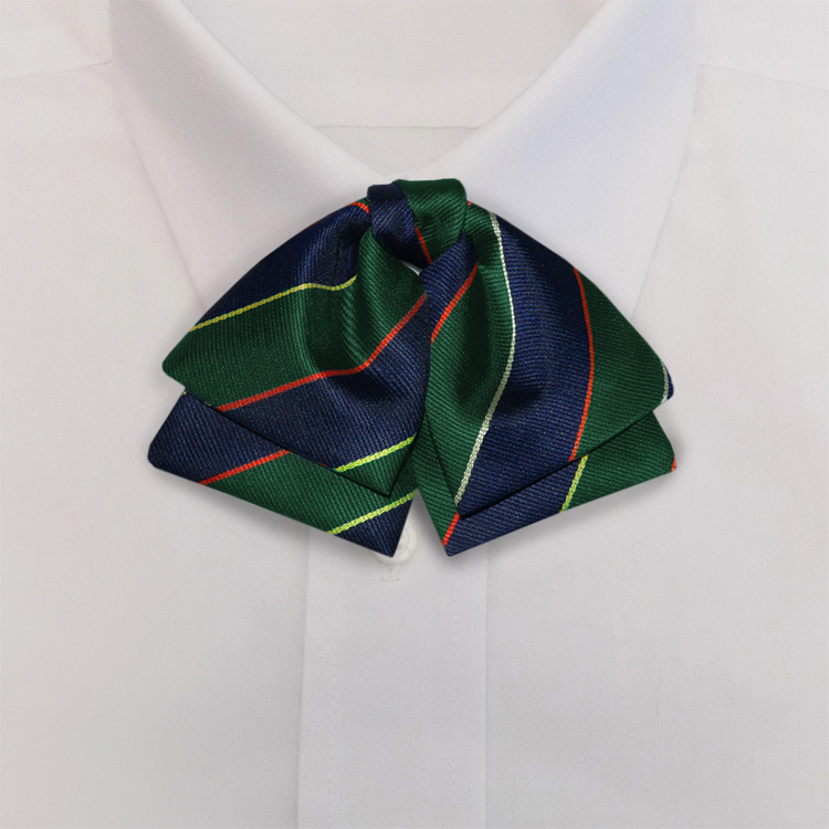 Navy/Green/Gold Stripe #397<br>Manager Bow<br>on Adjustable Band-SB