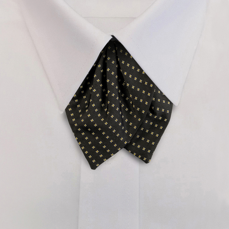 Black/Gold Woven Neat #413<br>Tulip Bow on Adjustable Band-SB