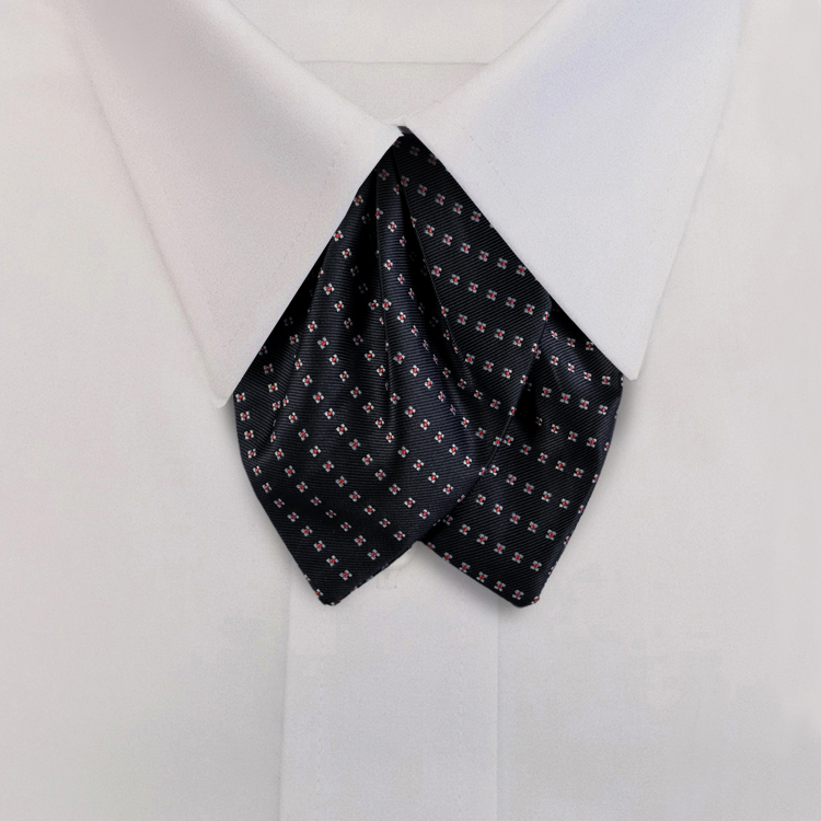 Navy/Red Woven Neat #415<br>Tulip Bow on Adjustable Band-SB