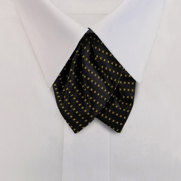 Navy/Gold Woven Neat #417<br>Tulip Bow on Adjustable Band-SB