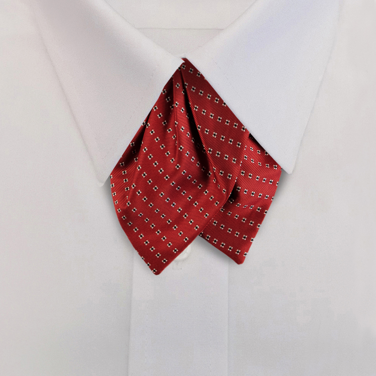 Red Woven Neat #418<br>Tulip Bow on Adjustable Band-SB