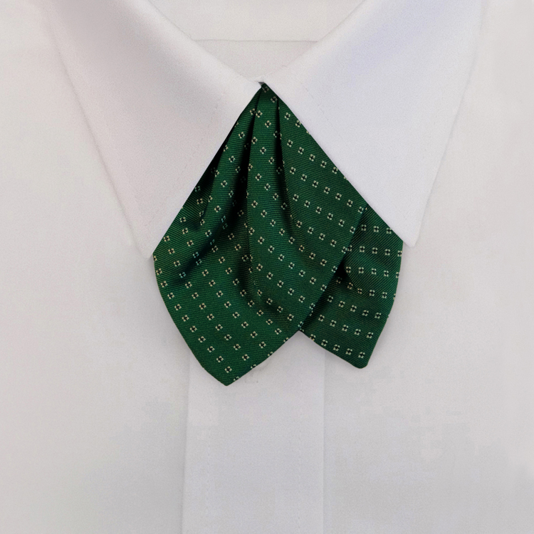 Green Woven Neat #419<br>Tulip Bow on Adjustable Band-SB