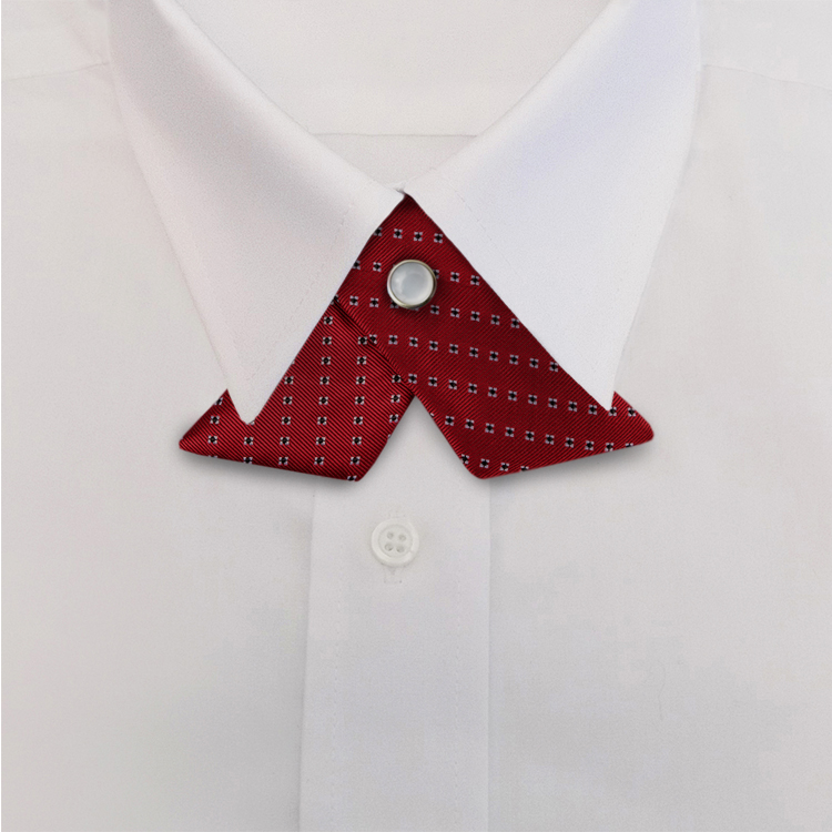 Red Woven Neat #418<br>Crossover Tie with Pearl Snap-SB