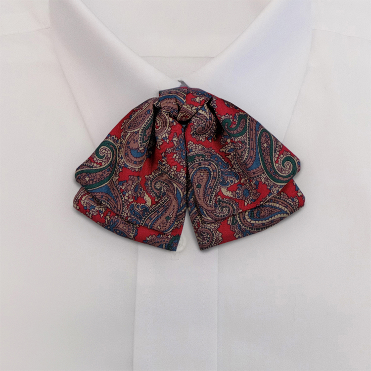 Red Paisley Print #475<br>Manager Bow on adjustable band-SB