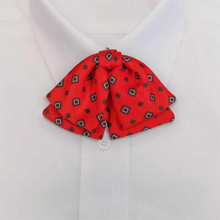 Red Print #485<br>Manager Bow on adjustable band-SB
