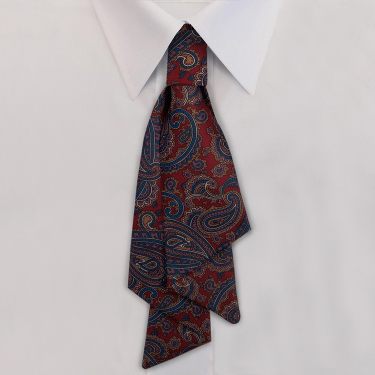 Burgundy Paisley Print #477<br>Slip Knot with hook and link closure-SB