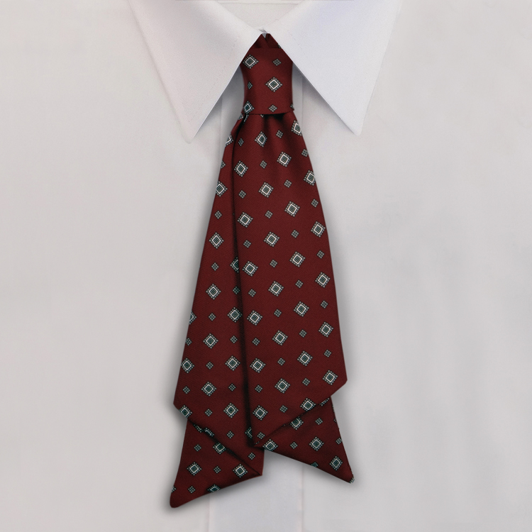 Burgundy Print #482<br>Slip Knot with hook and link closure-SB