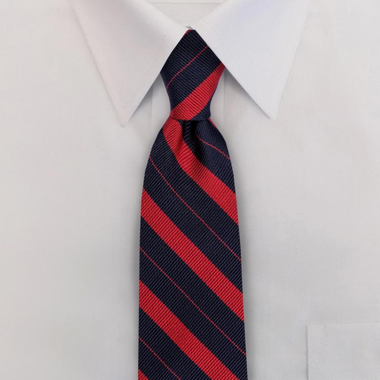 Navy/Red Stripe #707<br>Clip-On Necktie-SB