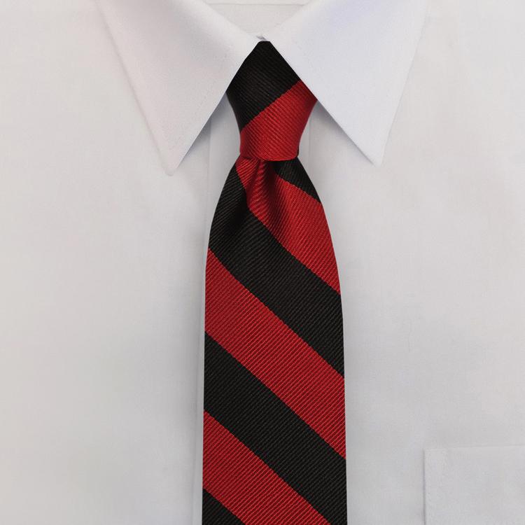 Black/Red Stripe #813<br>Clip-On Necktie-SB
