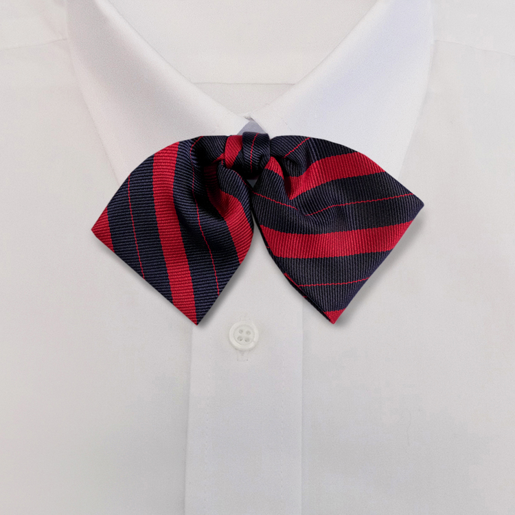 Navy/Red Stripe #707<br>Tab Bow on Adjustable Band-SB