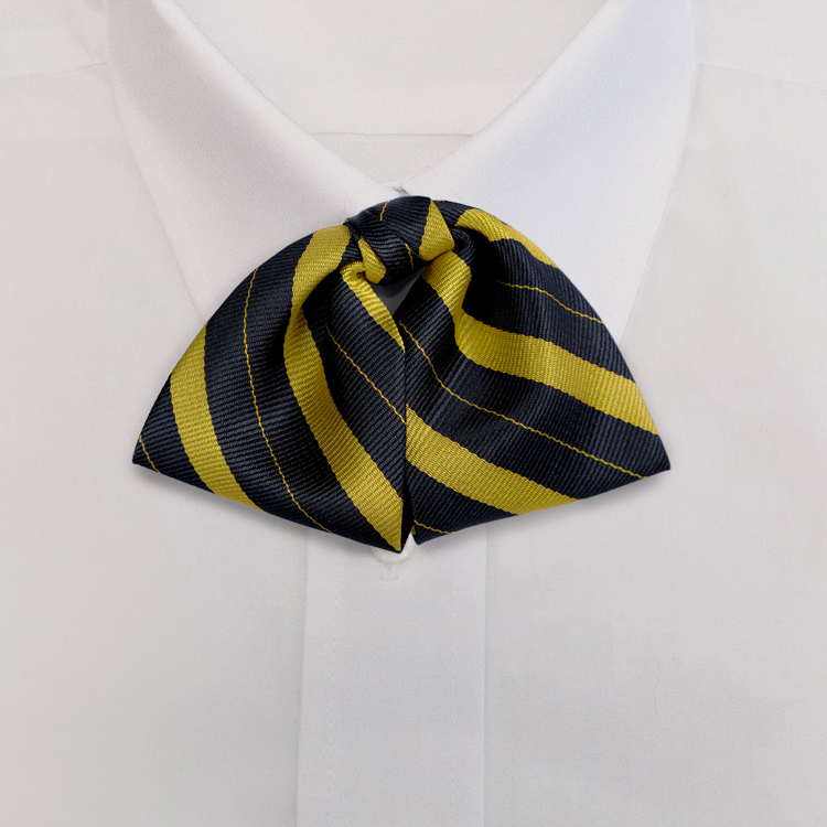 Navy/Yellow Stripe #708<br>Tab Bow on Adjustable Band-SB