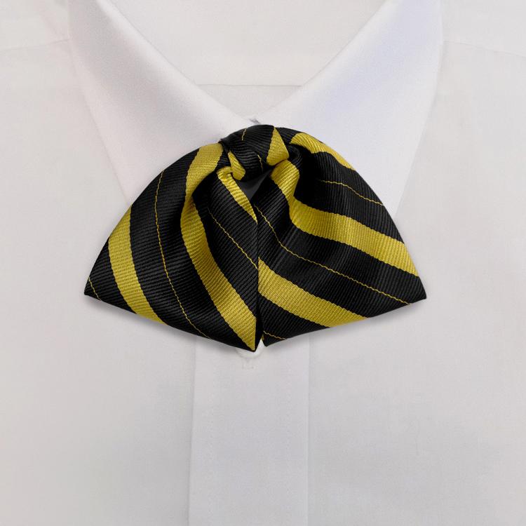 Black/Gold Stripe #712<br>Tab Bow on Adjustable Band-SB