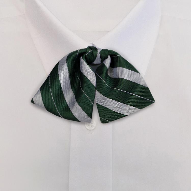 Green/Silver Stripe #719<br>Tab Bow on Adjustable Band-SB