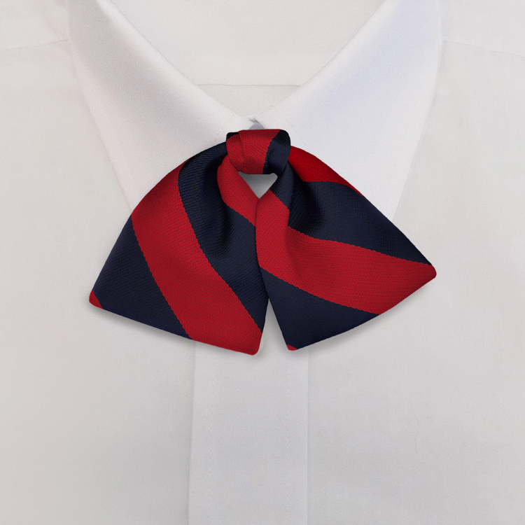 Navy/Red Stripe #807<br>Tab Bow on Adjustable Band-SB