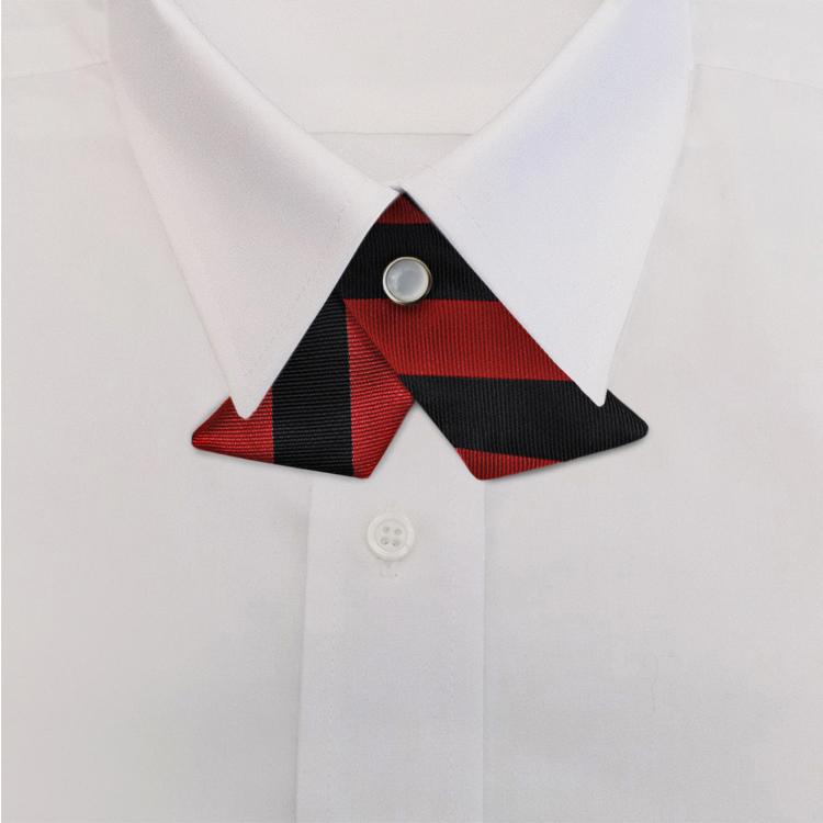 Black/Red Stripe #813<br>Crossover Tie with Pearl Strap-SB